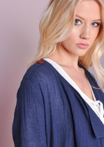 Waterfall Light Belted Blazer Navy