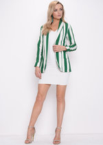 Bold Stripe Blazer Green