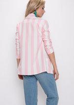 Bold Stripe Blazer Pink