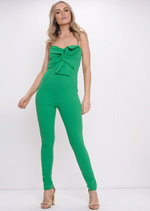 Bow Front Jumpsuit Green