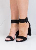 Buckle Chunky Heeled Platform Ankle Strap Sandals Black