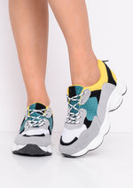 Chunky Lace Up Trainers Yellow