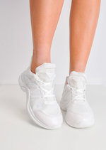 Contrast Arched Sole Chunky Trainers White
