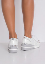 Contrast Wedge Chunky Trainers White