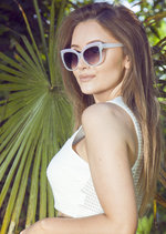 Dolly Cat Eye Sunglasses White