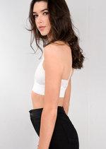 Eyelash Lace Strappy Harness Bralet White