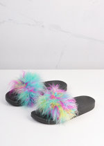 Feather Strap Sliders Multi