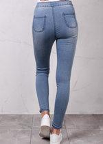 High Waisted Super Skinny Stonewash Jeans Light Blue