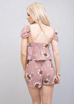 Floral Chiffon Co Ord Set Pink