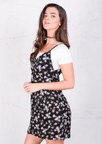 Floral Shift Cami Day Dress Black