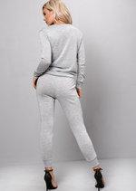 Glittery Loungewear Set Co Ord Silver