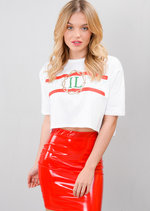 Guilty Cropped Slogan Tee T-Shirt White