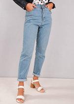 High Rise Denim Mom Jeans Light Blue