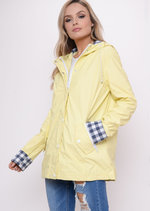 Waterproof Hooded Festival Rain Mac Coat Yellow