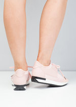 Lace Up Elastic Strap Trainers Pink