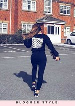 Amour Slogan Sweatshirt Jumper Black