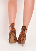 Leopard Print Pointed Stiletto Heels Multi