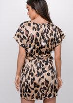 Leopard Print Split Side Mini Dress Multi
