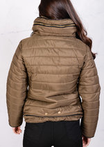 Lightweight Quilted Puffer Jacket Khaki Coat