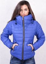 Lightweight Quilted Puffer Padded Jacket Coat Blue