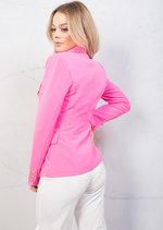 Military Style Tailored Blazer Jacket Fuchsia Pink