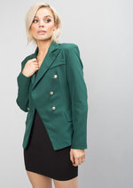 Military Style Tailored Blazer Jacket Green