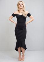 Off The ShoulderMermaid Fishtail Bodycon Maxi Dress Black