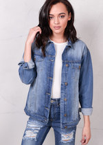 Oversized Denim Trucker Jacket