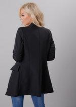 Oversized Longline Military Tailored Blazer Dress Black