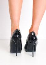 Patent Stiletto Pointed High Heels Black