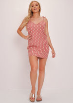 Polka Dot Cami Slip Dress Pink