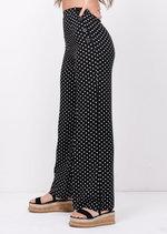 Polka Dot Wide Leg Trousers Black