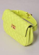 Quilted Cross Body Detachable Belt Bum Bag Yellow