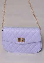 Quilted Cross Body Detachable Belt Bum Bag Purple