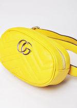 QuiltedGold Detail Bum Bag Mustard Yellow