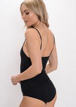 Ribbed Strappy Bodysuit Black