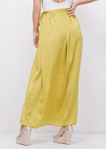 Satin Tie Waist Wrap Maxi Skirt Green