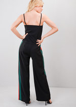 Green Red Striped Cami Top Tracksuit Co Ord Set Black