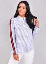 Striped Long Sleeve Shirt Blue