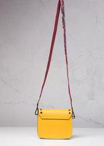 Studded 100% Leather Multi Colour Strap Mini Shoulder Bag Bright Yellow