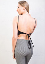 Tie Back Cami Crop Top Black