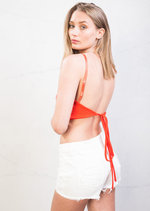 Tie Back Cami Crop Top Orange
