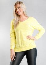 Twist Back Long Sleeve Jumper Yellow