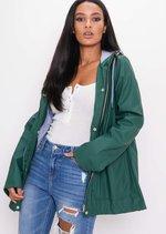 Waterproof Hooded Festival Rain Mac Coat Khaki Green