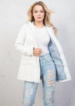 Waterproof Rain Mac Coat Festival  Hooded Jacket White