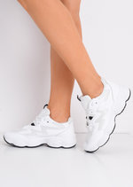 White Contrast Chunky Trainers White