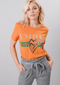 Amour Always French Slogan T-Shirt Mustard Yellow
