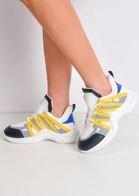 Contrast Arched Sole Chunky Trainers Yellow