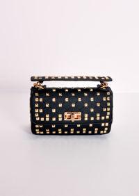 Studded Mini Shoulder Bag Black
