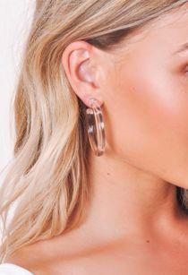 Chunky Clear Resin Hoop Earrings